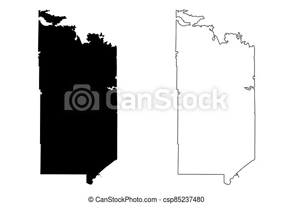 St. Louis County, Minnesota (U.S. county, United States of America, USA, U.S., US) map vector illustration, scribble sketch St. Louis map - csp85237480
