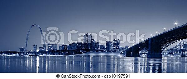 St. Louis skyline panorama. - csp10197591