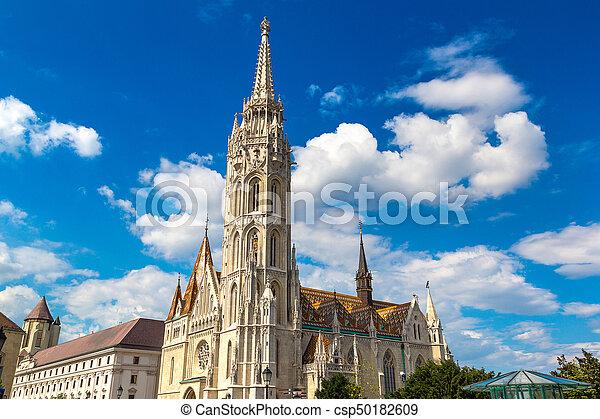 St. Matthias Church in Budapest - csp50182609