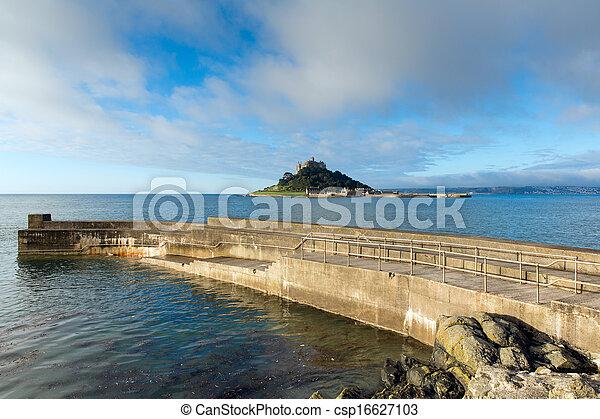 St Michaels Mount Marazion Cornwall - csp16627103