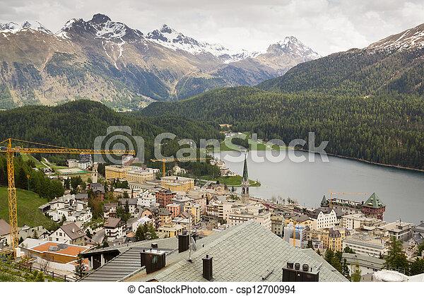 St. Moritz , Switzerland. - csp12700994