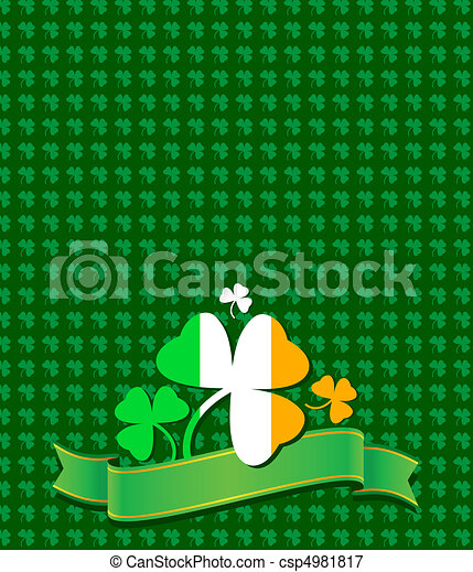 St. Patrick card - csp4981817