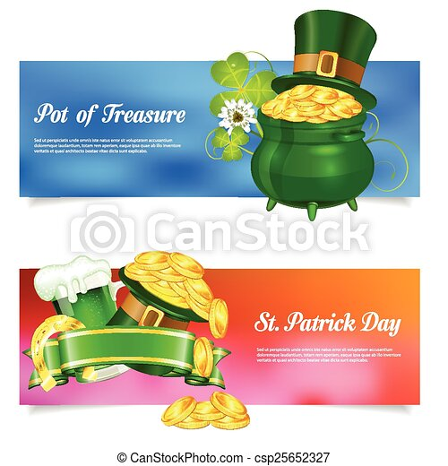 St. Patrick Day Banners - csp25652327