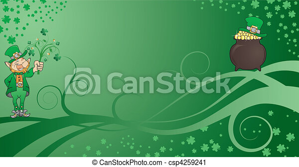 St. Patrick's Background - csp4259241