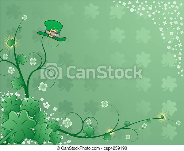 St. Patrick's Background - csp4259190
