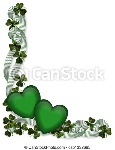 St Patricks Day Background Border - csp1332695