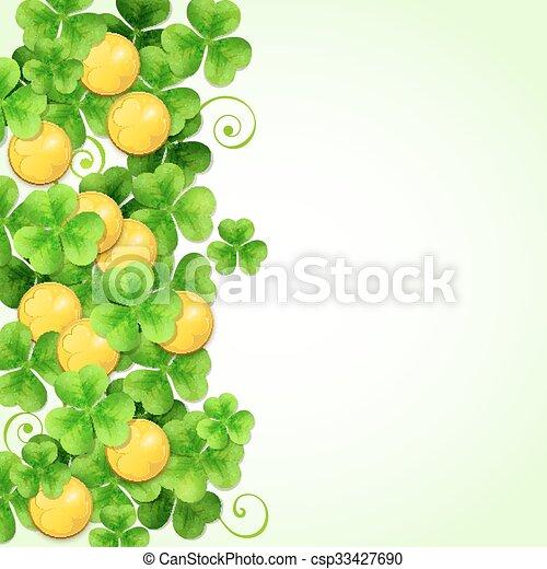 St. Patrick's Day background - csp33427690
