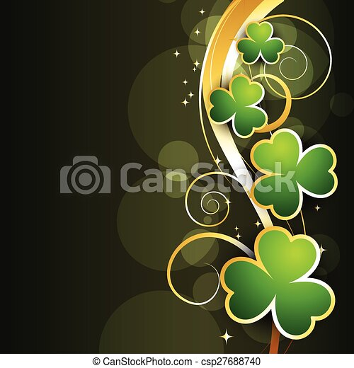 st patrick's day background - csp27688740