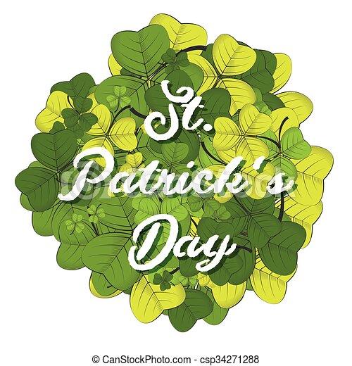 St Patricks day background - csp34271288