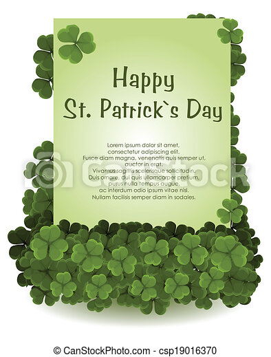 St patrick's day background - csp19016370