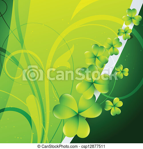 st patrick's day background - csp12877511