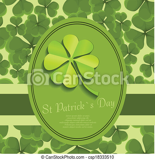 St Patrick's day background - csp18333510