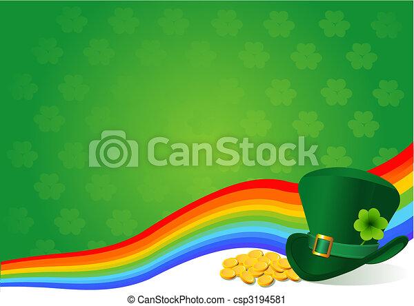 St. Patrick's Day background - csp3194581