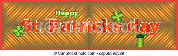St. Patrick's Day banner - csp66392529
