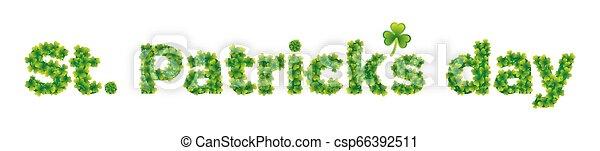 St. Patrick's Day banner - csp66392511