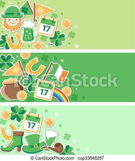 St. Patrick's Day banners - csp33848287