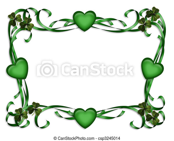St Patricks Day Border - csp3245014