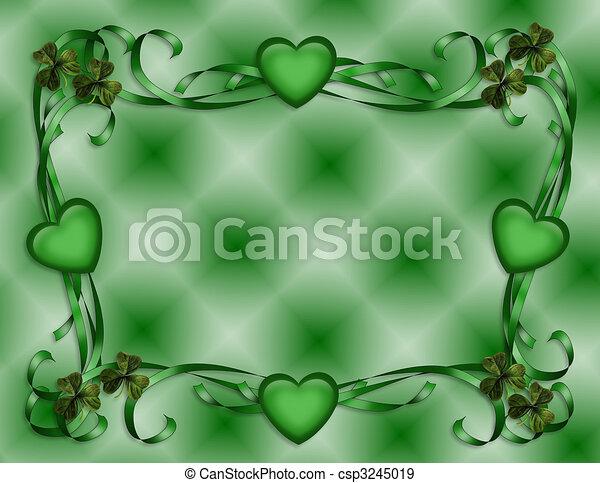 St Patricks Day Border - csp3245019
