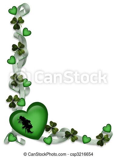 St Patricks Day Card Border - csp3216654
