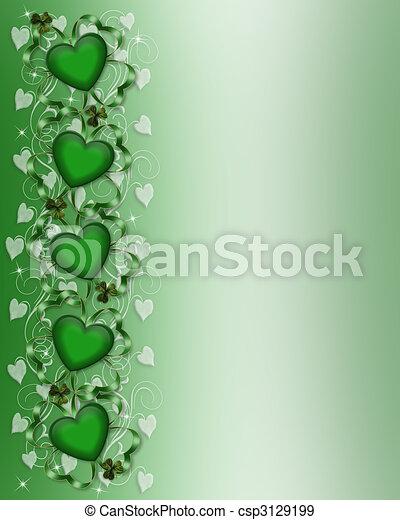 St Patricks Day Card Border - csp3129199