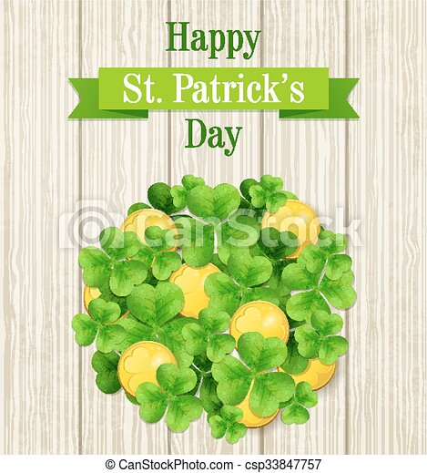 St. Patrick's Day card - csp33847757