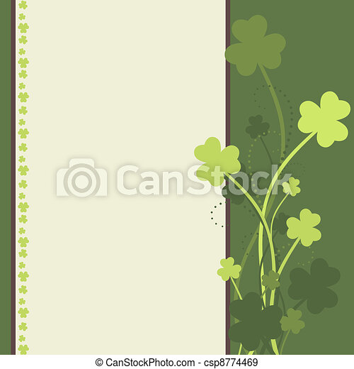 St. Patrick's Day card - csp8774469
