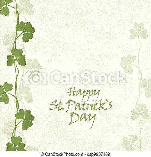 St. Patricks Day Card - csp9957189
