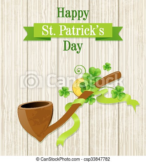 St. Patrick's Day card - csp33847782