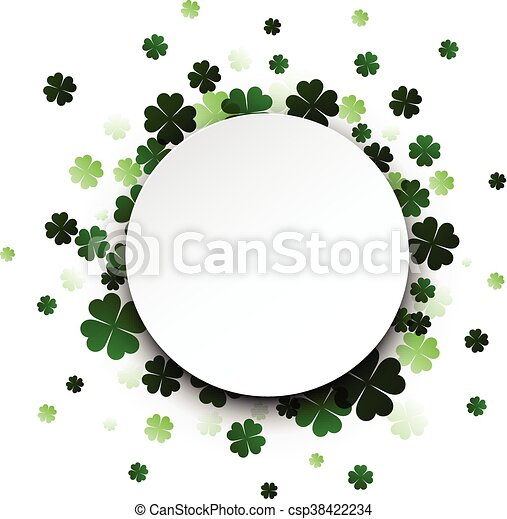 St. Patrick's day card. - csp38422234