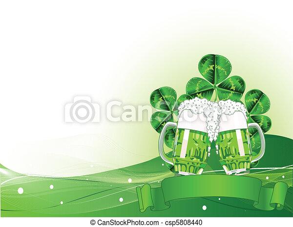 St. Patricks Day Celebration Backg - csp5808440