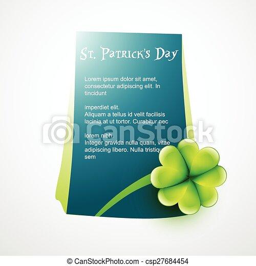 st patrick's day - csp27684454