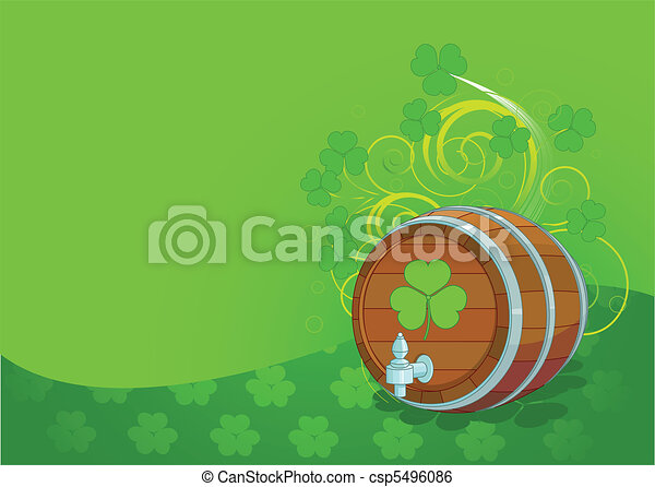 St. Patrick's Day design with beer - csp5496086