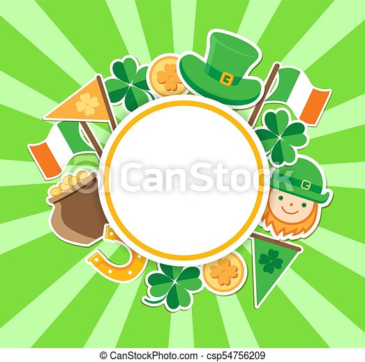 St. Patrick's Day green background - csp54756209