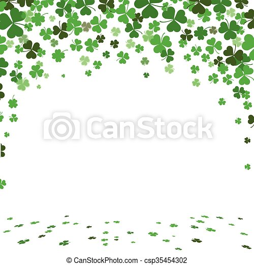 St. Patricks Day Green Shamrocks Cover - csp35454302
