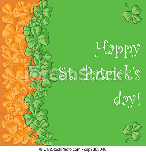 St. Patrick's day greeting card - csp7383046