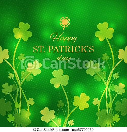 St Patrick's Day greeting card - csp67790259