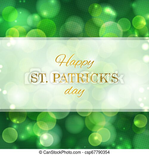 St Patrick's Day greeting card - csp67790354