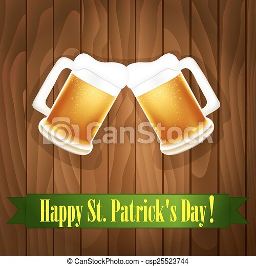 St. Patrick's Day greeting card - csp25523744