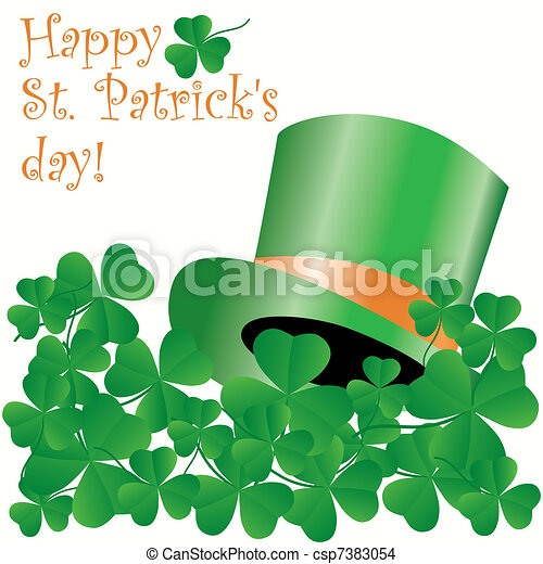 St. Patrick's day greeting card - csp7383054
