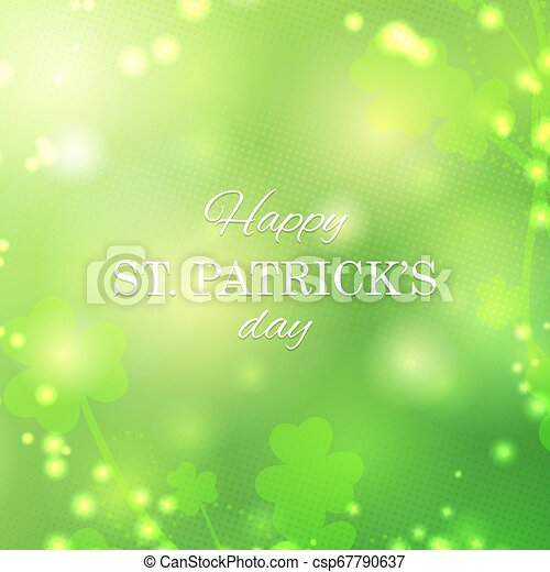St Patrick's Day greeting card - csp67790637