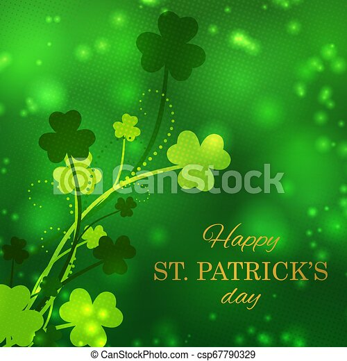 St Patrick's Day greeting card - csp67790329