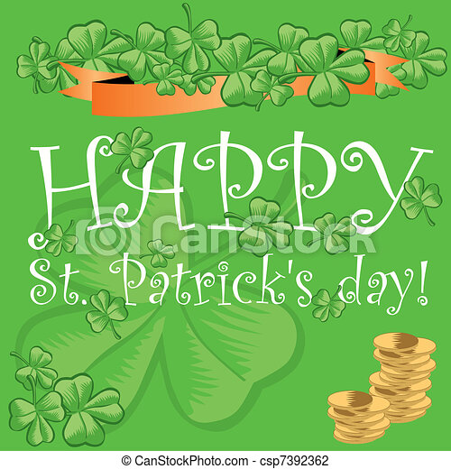 St. Patrick's day greeting card - csp7392362