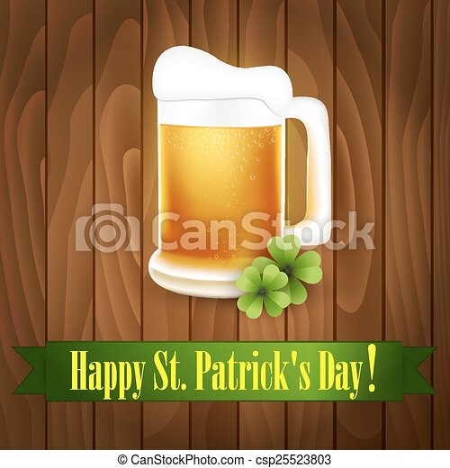 St. Patrick's Day greeting card - csp25523803