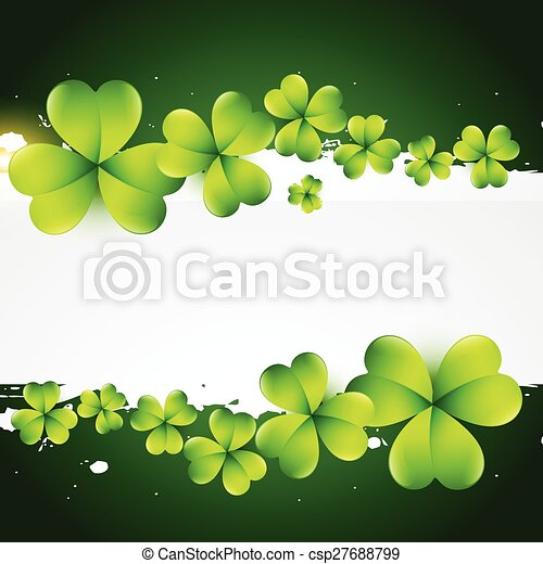 st patrick's day greeting - csp27688799