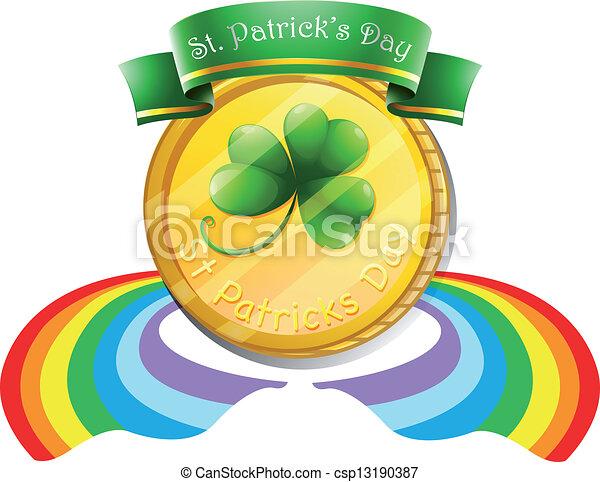 St. Patrick's Day greeting - csp13190387
