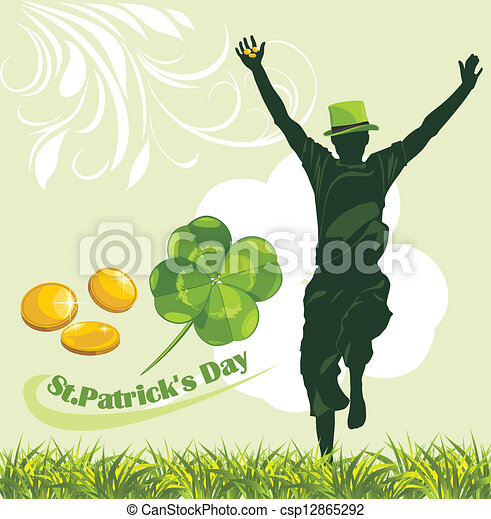 St. Patrick's Day. Holiday banner - csp12865292