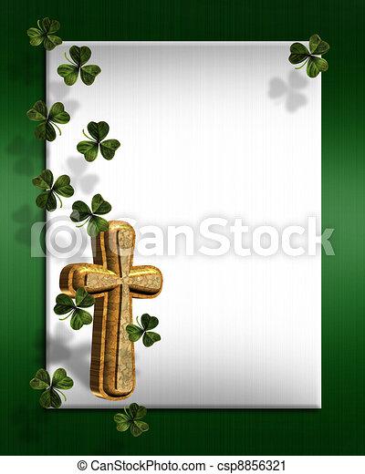 St Patricks day Irish border - csp8856321