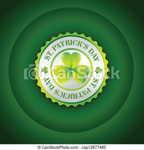 st patrick's day label - csp12877485
