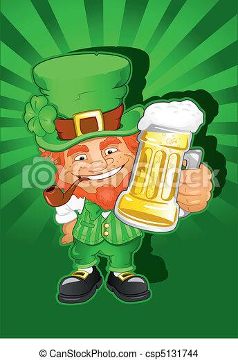 St. Patricks Day Leprechaun - csp5131744