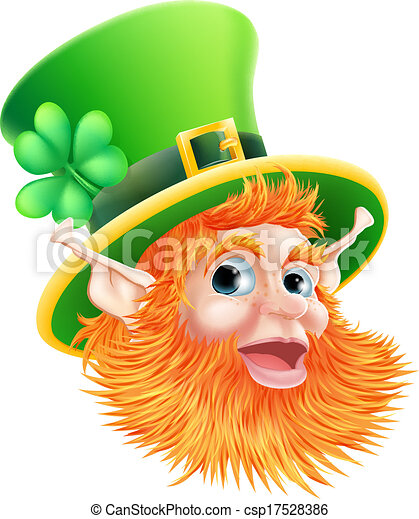 St Patricks Day Leprechaun Face - csp17528386